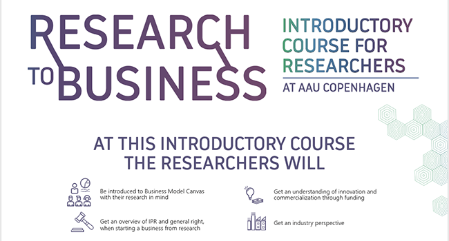 Research to Business: Introductory course for researchers